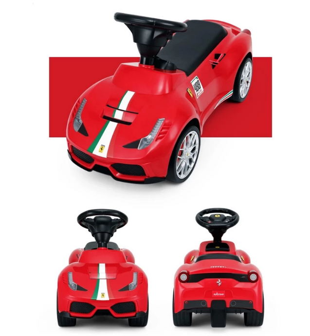 Rastar Ferrari 488 GTE Push Along Foot to Floor Ride on for Kids - Red - LK Auto Factors