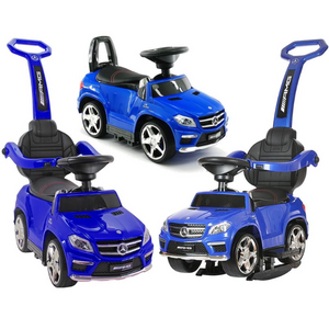 Licensed Mercedes GL63 Multi-Function Foot to Floor Ride on Kids Car - Blue - LK Auto Factors