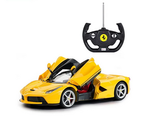 Rastar RC 1:14 Ferrari Laferrari Kids Remote Control Toy Car - Yellow - LK Auto Factors