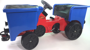 Pedal Coal Truck add on for Little Play Train Engine - Blue - LK Auto Factors