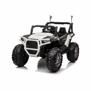 JC999 UTV 24v Big Seats All Terrain Kids Ride on Buggy ATV Quad With Remote - White - LK Auto Factors