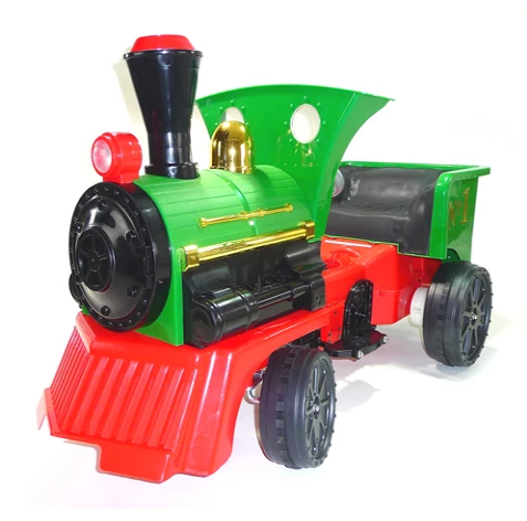 Ride on Kids Electric 12v Battery Powered Play Train Engine - Green - LK Auto Factors