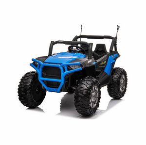 JC999 UTV 24v Big Seats All Terrain Kids Ride on Buggy ATV Quad With Remote - Blue - LK Auto Factors