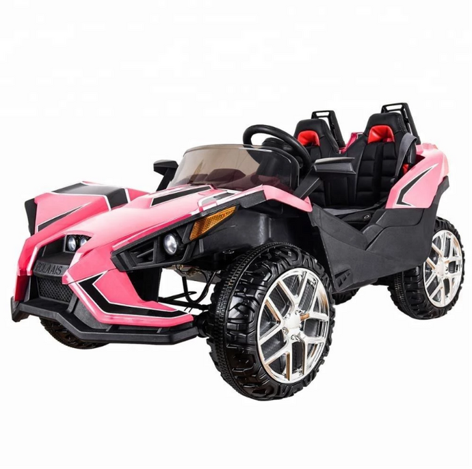 Polaais Style 12V Kids Ride on Car ATV Buggy with Parental Remote - Pink - LK Auto Factors