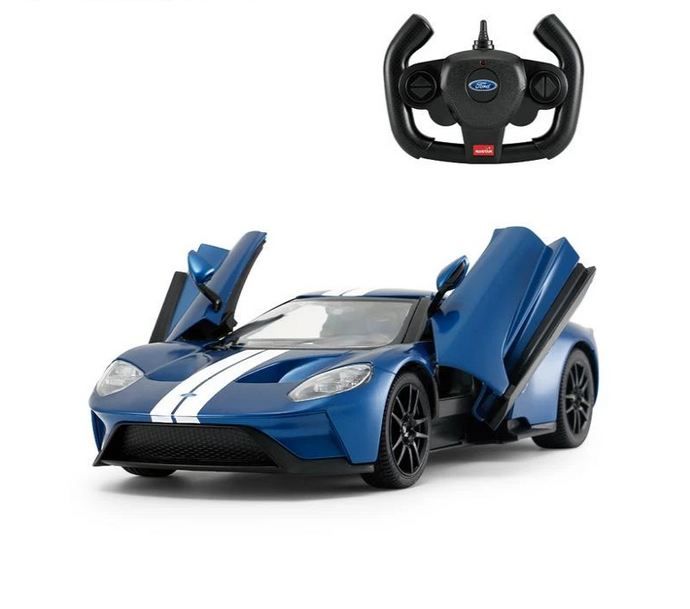 Rastar RC 1:14 Ford GT Kids Remote Control Toy Car - Blue - LK Auto Factors