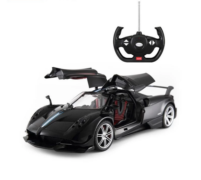 Rastar RC 1:14 Pagani Huayra BC Kids Remote Control Toy Car - Black - LK Auto Factors