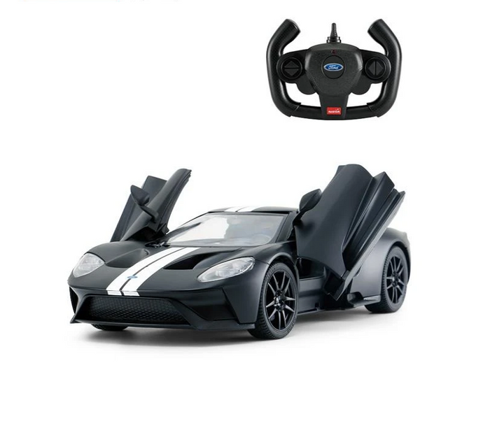 Rastar RC 1:14 Ford GT Kids Remote Control Toy Car - Matt Black - LK Auto Factors