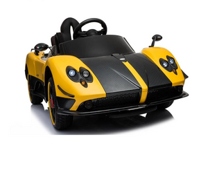 Licensed Pagani Zonda Cinque Roadster 12v Ride on Car With Remote Control - Yellow - LK Auto Factors