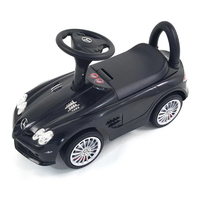 Mercedes SLR Push Along Foot to Floor Ride on for Kids - Black - LK Auto Factors