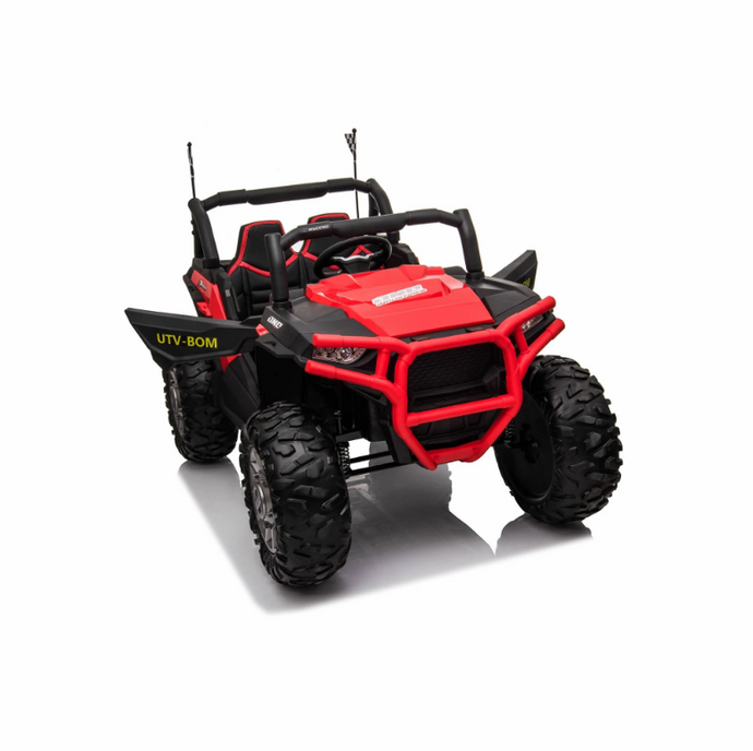JC999 UTV 24v Big Seats All Terrain Kids Ride on Buggy ATV Quad With Remote - Red - LK Auto Factors