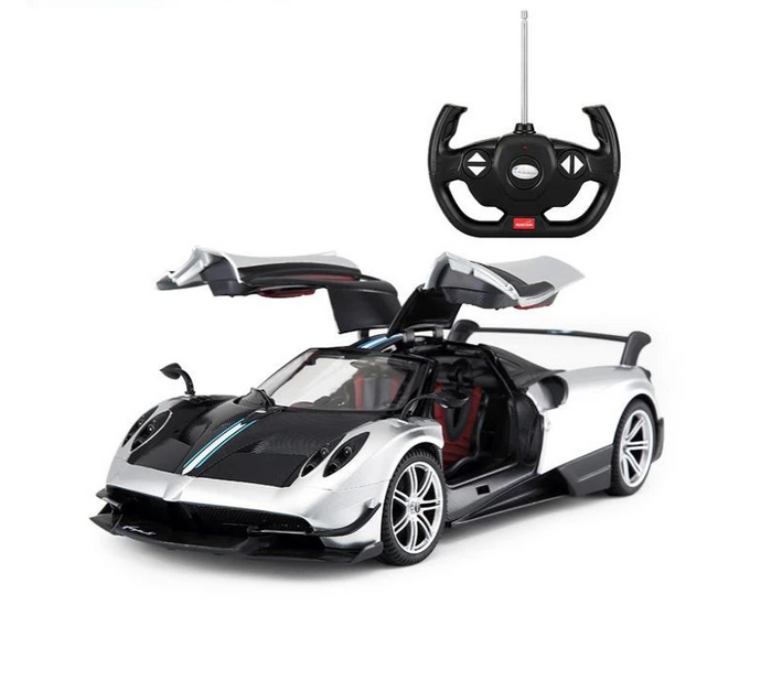 Rastar RC 1:14 Pagani Huayra BC Kids Remote Control Toy Car - White - LK Auto Factors
