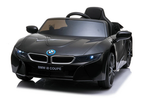 BMW i8 Licensed 12V 4.5A Two Motors Battery Powered Electric Ride On Toy Car (Model: JE1001) Black