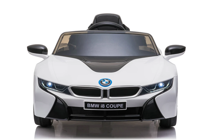 BMW i8 Licensed 12V 4.5A Two Motors Battery Powered Electric Ride On Toy Car (Model: JE1001) White