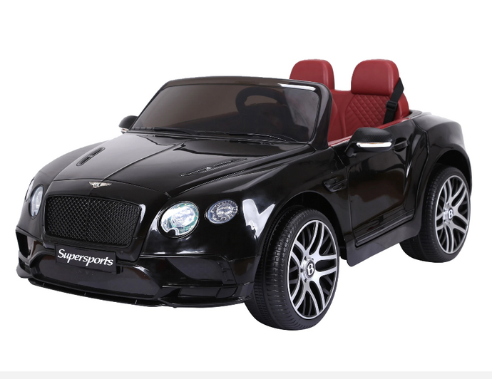 Bentley Continental Super Sports Ride on Car - 12V 2WD Painted Black
