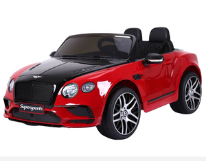 Bentley Continental Super Sports Ride on Car - 12V 2WD Painted Red and Black