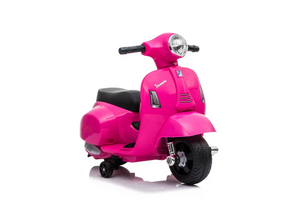 Vespa GTS Licensed 6V Ride On Scooter Bike with Training Wheels Pink