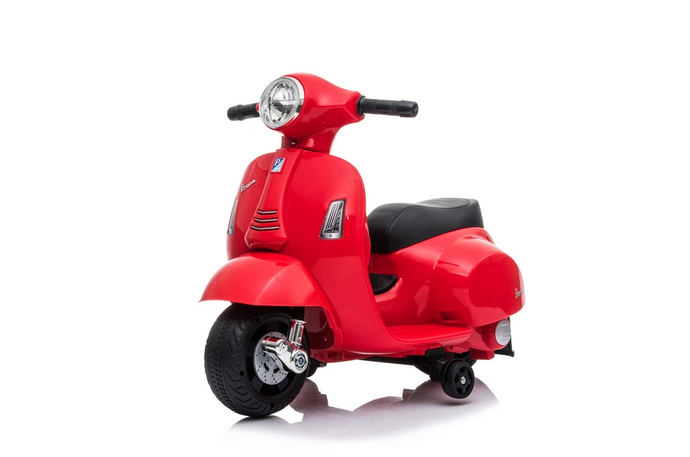 Vespa GTS Licensed 6V Ride On Scooter Bike with Training Wheels Red