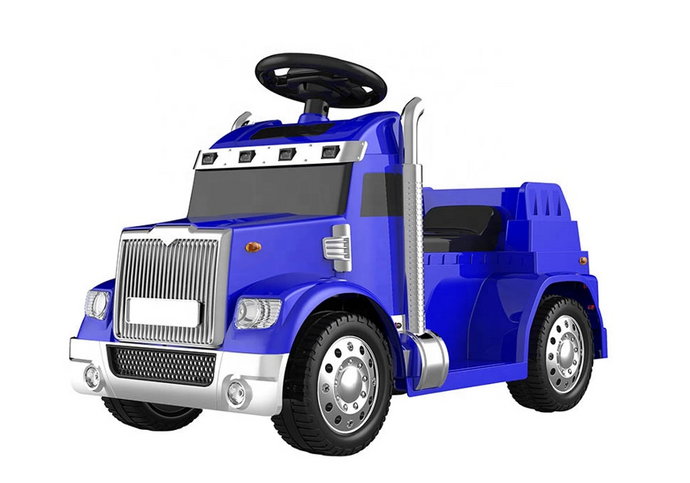 Kids Electric Ride on Truck - 6V Blue