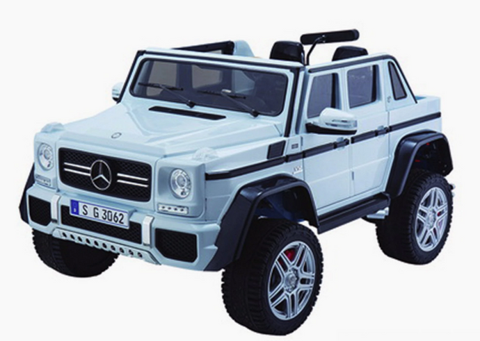Licensed Mercedes-Benz Maybach G650 2 Seater 24V 4WD Ride On Jeep White
