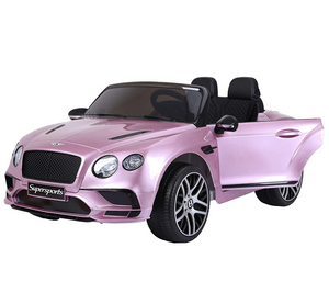 Bentley Continental Super Sports Ride on Car - 12V 2WD Painted Pink