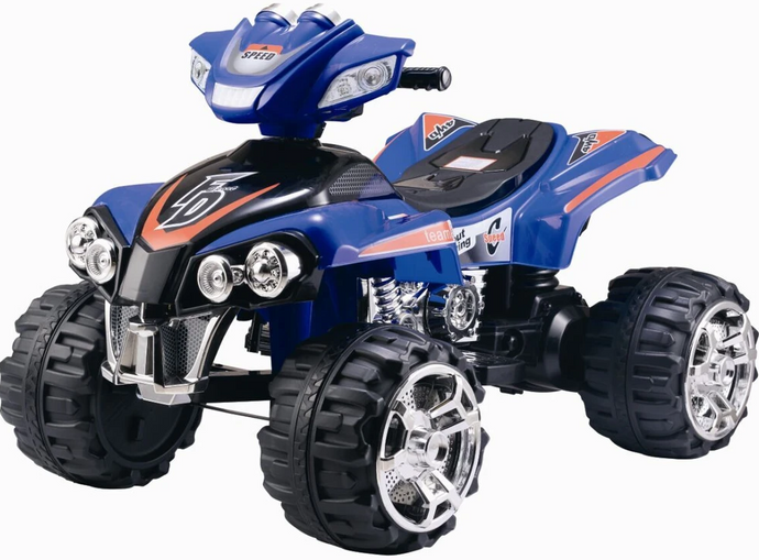 Electric Ride On Quad Bike ATV with Music and Light (Model ZP5128) BLUE