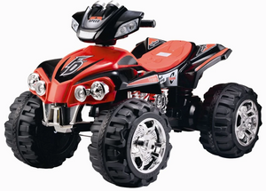 Electric Ride On Quad Bike ATV with Music and Light (Model ZP5128) RED