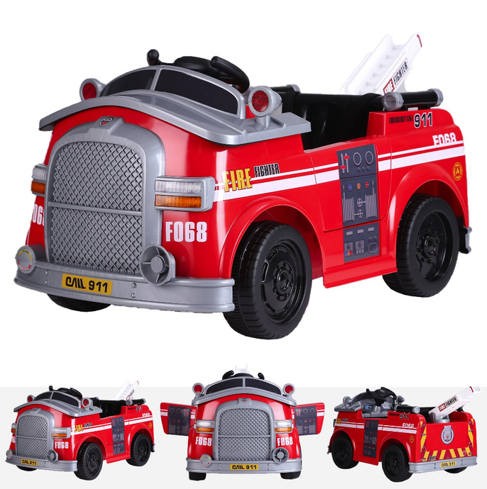 6V Ride On Fire Engine Truck Red