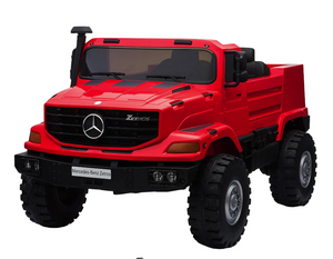 Mercedes 2WD 2 Seater Ride On Zetros Truck - 24V Red