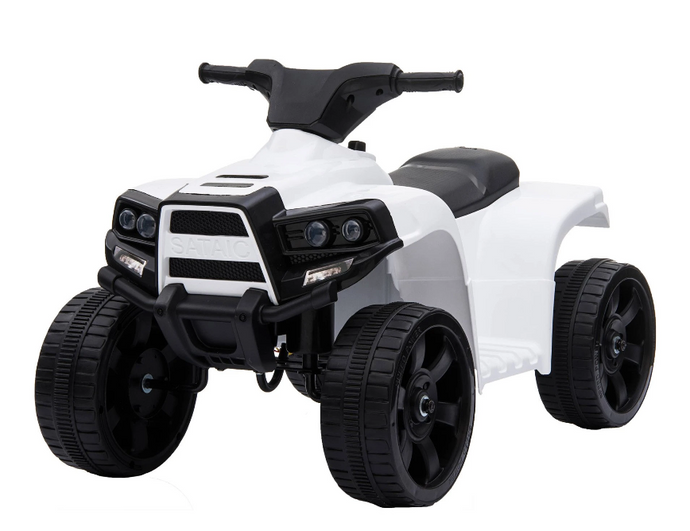 Renegade Rider 6V Electric Quad Motorbike In White
