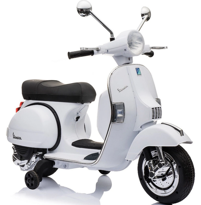 Vespa Licensed PX150 12V Kids Electric Ride on Motorbike White