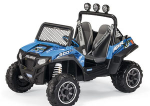 Peg Perego Polaris Ranger RZR 900 Blu - Blue Kids Ride on Electric Car
