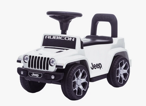 Jeep Rubicon Electric & Push Along Car - Licensed Kids Ride on Electric Car