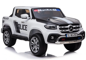 Mercedes Benz X Class Licensed Police 24V Electric Ride On Jeep (Black White)