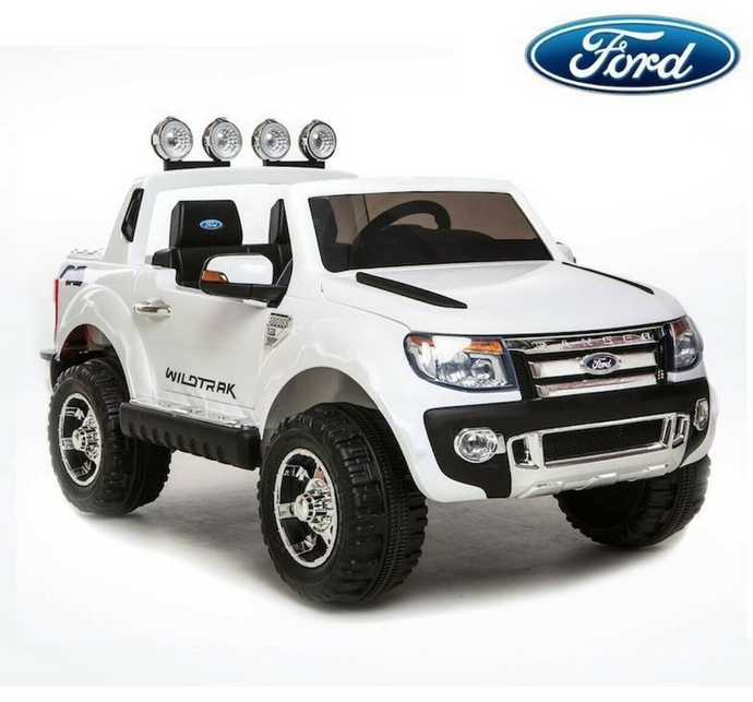 Licensed Ford Ranger Premium Upgraded 12v Kids Electric Jeep - Special White