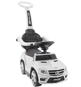 Licensed Mercedes GL63 Multi-Function Foot to Floor Ride on Kids Car - White - LK Auto Factors