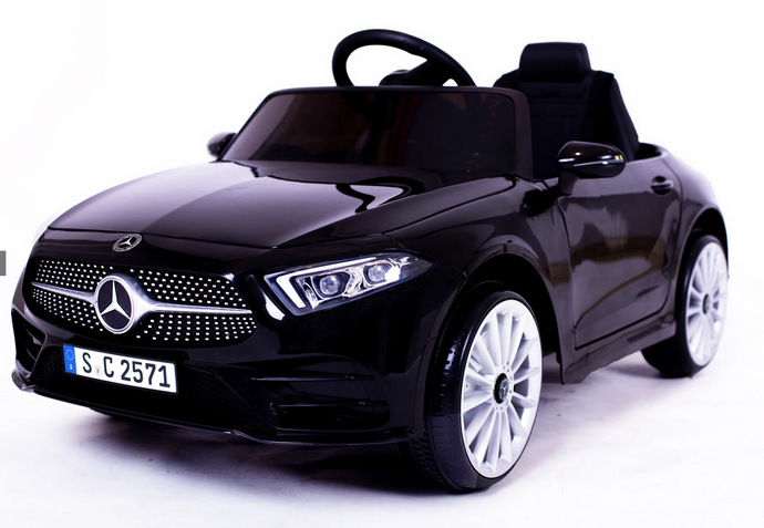 12V 4A Two Motors Mercedes Benz CLS350 Licensed Battery Powered Kids Electric Ride On Toy Car (Black)
