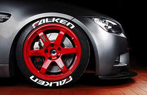 LK Performance Genuine Rubber Raised Falken Tyre Sticker Decal Vinyl Letters - LK Auto Factors