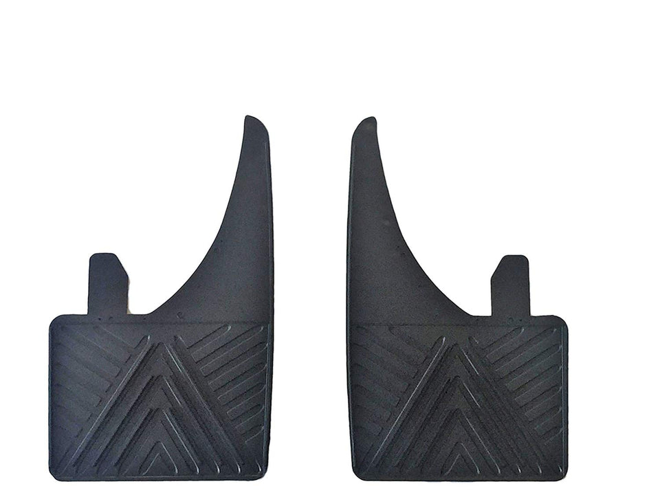 White Logo Universal Fit Most Benz Models Moulded Mudflaps Front or Rear - LK Auto Factors