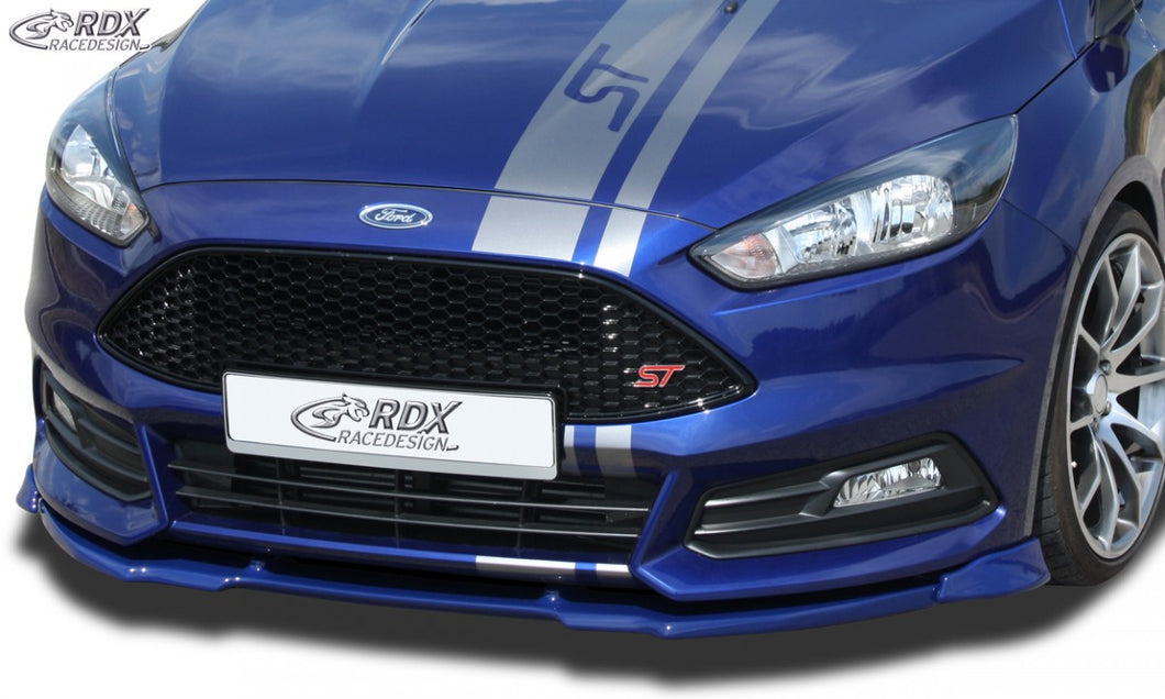 LK Performance RDX Front Spoiler VARIO-X FORD Focus 3 ST (2015+) Front Lip Splitter - LK Auto Factors