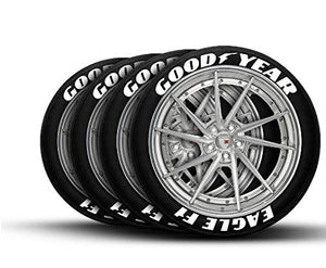 LK Performance Genuine Rubber Raised Good Year Goodyear Tyre Sticker Decal Vinyl Letters - LK Auto Factors