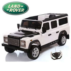 Ride on 12v Electric Land Rover Defender with Parental Control White Official Model - LK Auto Factors