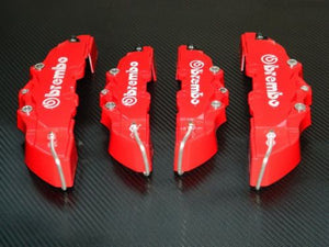 Authentic Brembo RED Brake Caliper Covers Kit - LK Auto Factors