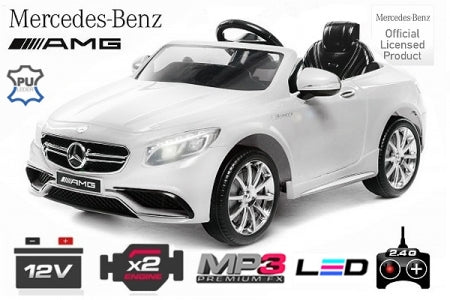 Mercedes S63 License Children electric car | 2x 35W | 12V | 2.4G remote control - LK Auto Factors
