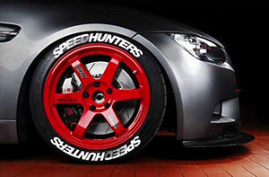LK Performance Genuine Rubber Raised Speedhunters Speed Hunters Tyre Sticker Decal Vinyl Letters - LK Auto Factors