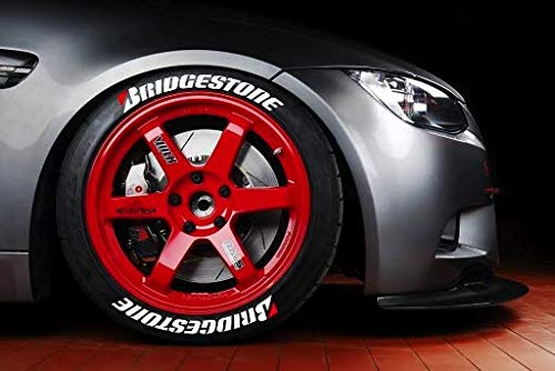 LK Performance Genuine Rubber Raised Bridgestone Tyre Sticker Decal Vinyl - LK Auto Factors