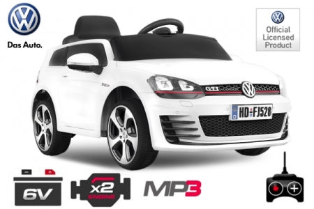 Licensed  Vw Golf Electric Ride On Kids Car 2x 30W 12V Batteries - LK Auto Factors