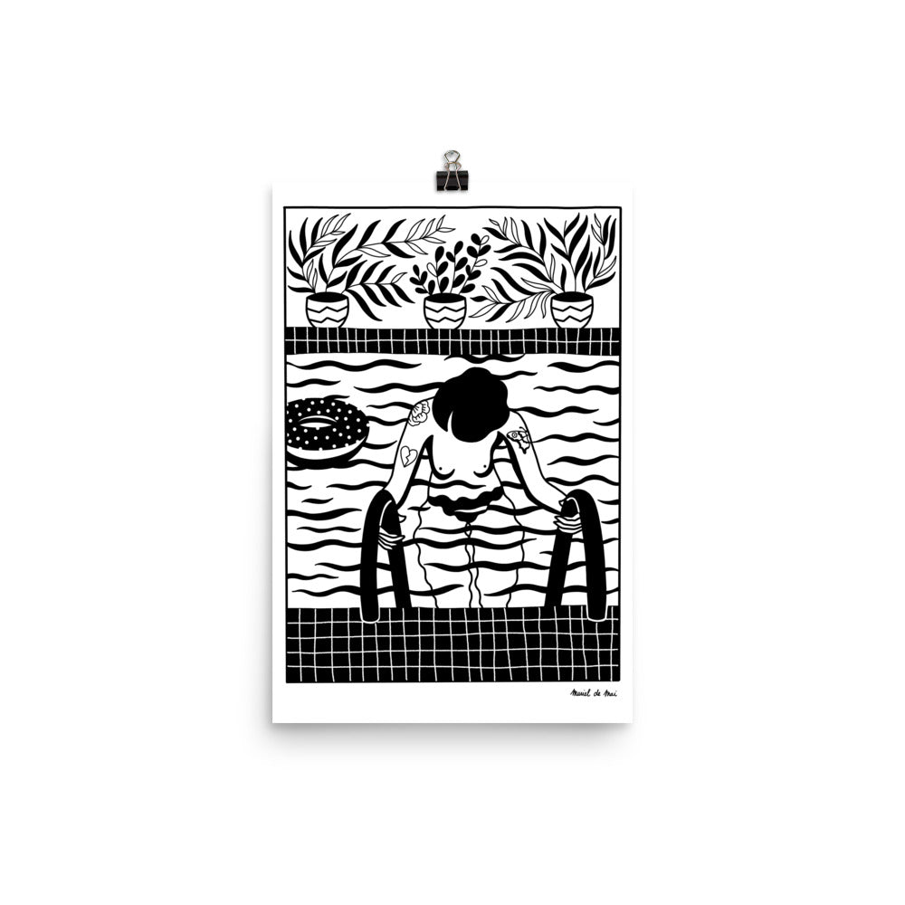 The Pool / Illustration print