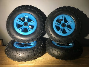 Evolve Skateboards Special Edition wheel/tire combo set (Blue)