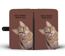 Load image into Gallery viewer, Kitty Cat Wallet w/ Universal Phone Case - Cute Cats Store