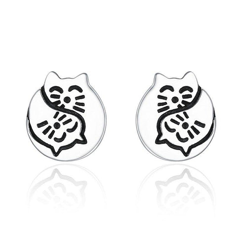 Image of cute cat earrings - Cute Cats Store